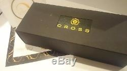 24Ct Gold Plated Executive Cross Ballpoint Writing Pen Black Ink Gift Boxed 24k