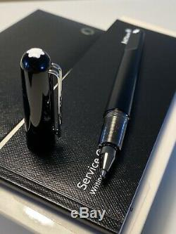 As new Montblanc M Marc Newson Black Resin Ballpoint Pen MB113620 Box Papers