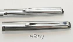 Aurora 98 vintage'60 steel set fountain pen & ballpoint new old stock in box