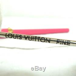 Auth Louis Vuitton Pink Stylo Agenda Black Ink Ball Point Pen Made in France