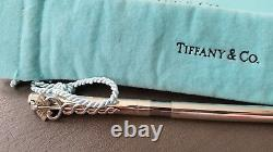 Boxed Tiffany Sterling Silver Medical Caduceus Symbol Sterling Ball Point Pen