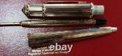 CARTIER BALLPOINT PEN Diavolo Silver WithCase Used Very Good From Japan F/S