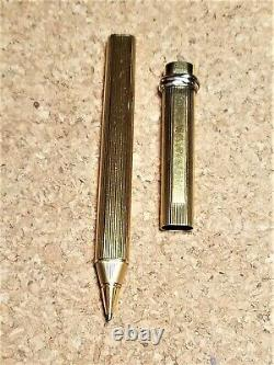 Cartier Ballpoint pen Godron Vendome Vintage Rare Gold Plated with EF Refill