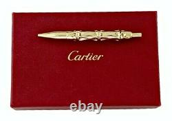 Cartier Bamboo Shapped Solid 585 Gold Ballpoint Pen 1920