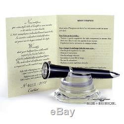 Cartier Black Lacquer Ballpoint with Watch & Crystal Stand Limited Edition -#217