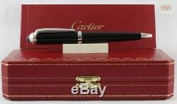 Cartier Roadster Black Composite With Palladium Finish Ball Point Pen Gorgeous