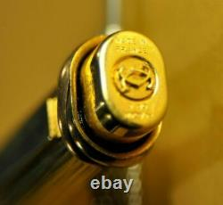 Cartier Vendome Trinity Gold Plaque OR G French Ballpoint pen c. 1991's withBox