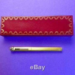 Cartier ballpoint pen trinity ring gold color with box
