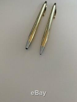 Cross 14k Solid Gold Vintage Ball Pen and Pencil Set