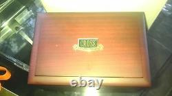 Cross 150th Anniversary Silver Fountain Pen Limited Edition Gold 18K Boxed