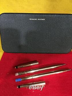 Cross Century Solid 14 Karat Gold Pen And Pencil Set New In 1975