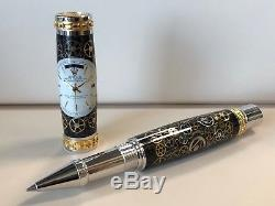 Custom Made Rolex Day- Date Dial Pen withWatch Parts & Dial 24K Y/G Hardware