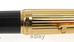 Louis Cartier vintage deluxe gold & lacquer big ballpoint pen new in box