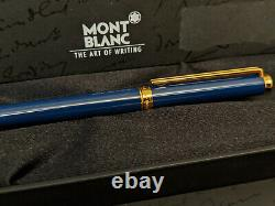 MONTBLANC Noblesse Blue with Gold Trim Ballpoint Pen, NOS