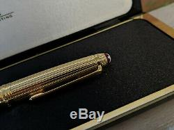 MONTBLANC Solitaire Doue Vermeil Sterling Silver Burgundy Red 164 Ballpoint Pen