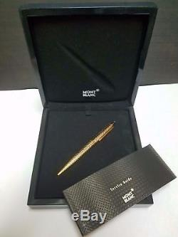 Montblanc 18Kt Solid Gold White & Yellow Bi Color Ballpoint Pen New In Box