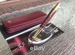 Montblanc Boheme Jewels Red Leather Ballpoint Pen with matching case