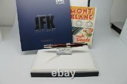 Montblanc Great Characters John F Kennedy Rollerball Jfk Edition Burgundy