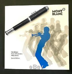 Montblanc Great Characters Miles Davis Ballpoint Pen Special Edition New 114346