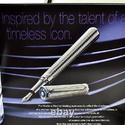 Montblanc Marlene Dietrich Sterling Silver Fountain Pen Limited Edition Of 1901