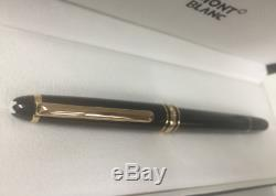 Montblanc Meisterstuck Black/GOLD Rollerball Pen 163 Authentic