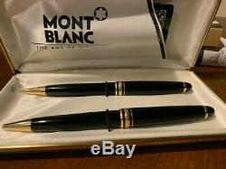 Montblanc Meisterstuck Black & Gold Ballpoint Pen and pencil set pre-owned