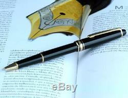 Montblanc Meisterstuck Classique 163 Black Rollerball W. Germany Gold Trims