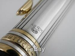 Montblanc Meisterstuck Solitaire Doue Sterling Silver 925 Ballpoint Pen F/S