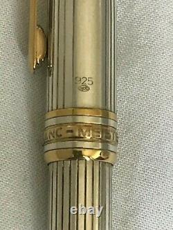 Montblanc Meisterstuck Solitaire Sterling Silver 164 BP-Excellent condition