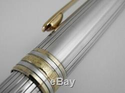 Montblanc Meisterstuck Solitaire Sterling Silver 925 Ballpoint Pen (used) F/S