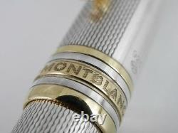 Montblanc Meisterstuck Solitaire Sterling Silver Barley Ballpoint Pen W. GERMANY