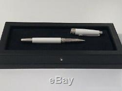 Montblanc Meisterstuck Tribute to the Mont Blanc Platinum Rollerball Pen, White
