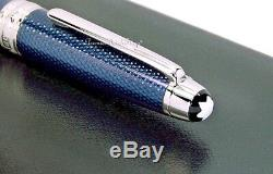 NEW Montblanc Meisterstuck Solitaire Blue Hour Mid-size Ball Point Pen 112891