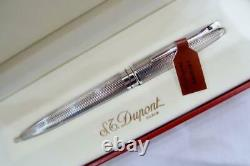 New With Tags S. T Dupont Olympio Silver Pl Guilloche Ballpoint Pen & Papers 2000