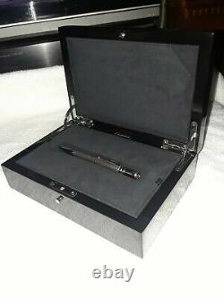 Parker Duofold Presidential Sterling Silver Esparto Ballpoint Pen in wooden box