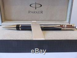 Parker Duofold Special Edition Navy Pinstripe Ballpoint Pen New In Box Beauty