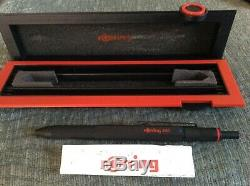 Rotring 600 Trio Matte Black BP Pen Blue, Red & 0.7 Pencil Old Style Knurled