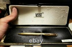 SOLID 585 14K GOLD MONTBLANC 715 Lever Activated Ballpoint Pen Very Rare