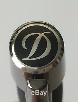 S. T. Dupont Defi Ball Point Pen, Black and Palladium, 405674, New In Box