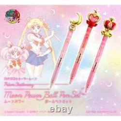 Sailor Moon 20th Prism Stationnery Moon Power Ball Point Pen Set of 3 Bandai New