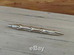 TIFFANY & CO Bamboo Sterling Silver Ballpoint Point, READ