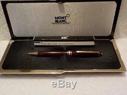 Used Vintage Montblanc Bordeaux Ballpoint Pen Boxed with Refill MEISTERSTUCK