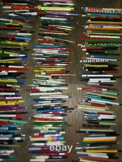 VINTAGE PENS AND PENCILS LOT 600 + Large Lot Advertising Regular Mixed