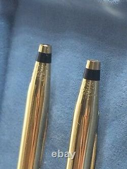 Vintage 18k Solid Gold Cross Pen & Pencil Set Never Used, 42 Grams, Not Scrap