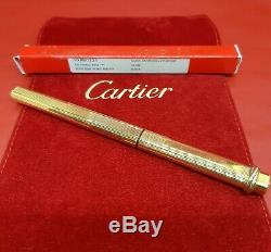 Vintage Authentic Cartier Ballpoint Pen Vendome Trinity Gold Plated with Pen Bag