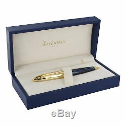 Waterman Carene Deluxe Blue with Gold Trim Ballpoint Pen