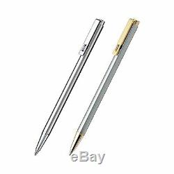 Zebra Mini Ballpoint Pen T-5, Black Ink, Silver with Gold Accent (T-5)